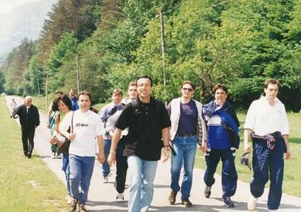 С президента Петър Стоянов по време на традиционния поход към връх Вола