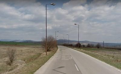 Пътят Горна Малина – Белопопци Снимка: Google street view