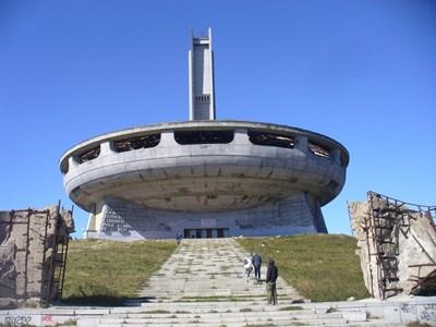 Бившият Дом-паметник на БКП на връх Бузлуджа получи днес дългочаканият статут на недвижима културна ценност с национално значение. СНИМКА: Ваньо Стоилов