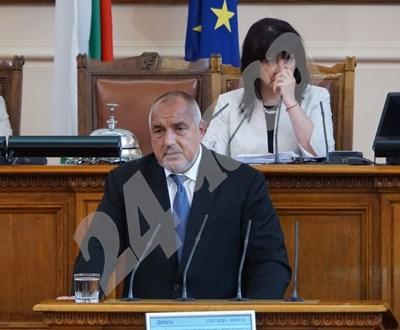 Бойко Борисов в парламента СНИМКИ: Десислава Кулелиева СНИМКА: 24 часа