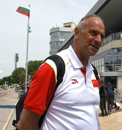 Стив Редгрейв на гребния канал в Пловдив