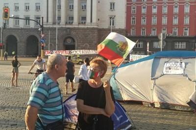 Палатков лагер в Триъгълника на властта СНИМКА: Архив/Велислав Николов