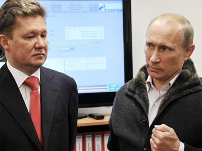 Алексей Милер и Владимир Путин Снимка: Ройтерс
