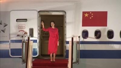 """Радио """"Китай"""": Завръщането на Мън Уанджоу показва твърдата решимост на страната да защитава правата на своите граждани"""