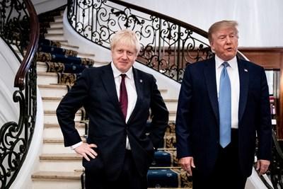 Борис Джонсън и Доналд Тръмп през август СНИМКА: РОЙТЕРС