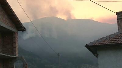 Пожарът е обхванал над 500 декара. СНИМКА: НОВА ТВ