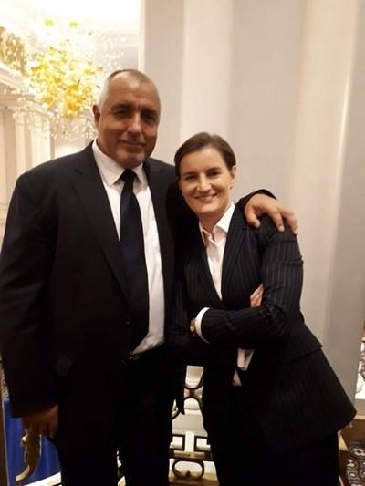 Бойко Борисов и Ана Бърнабич СНИМКА: Фейсбук