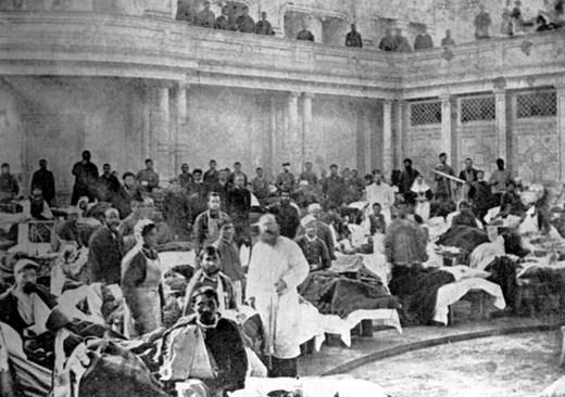 Парламентът като болница по време на Сръбско-българската война през 1885 г.