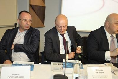 Валери Белчев (вдясно) и Румен Порожанов СНИМКА: Румяна Тонeва