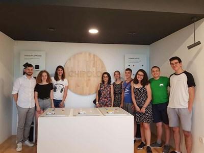 Учениците от СМГ в Словения, където получиха ценни идеи за развитието на платформата си. СНИМКА: Личен архив