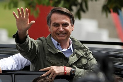 Новоизбраният президент на Бразилия Жаир Болсонаро  СНИМКА: Ройтерс