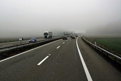 """Трафикът за Бургас мина в активната лента от км 0 до км 2 на """"Тракия"""" до 17 часа"""