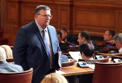 Сотир Цацаров представи отчета на прокуратурата. СНИМКА: Румяна Тонeва