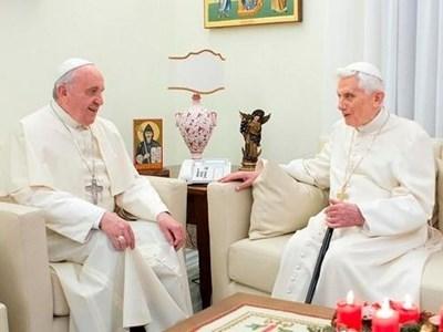 Франциск и Бенедикт през 2016 г. Снимка РОЙТЕРС