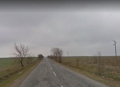 Пътят Ямбол - Калчево СНИМКА: Google Street View