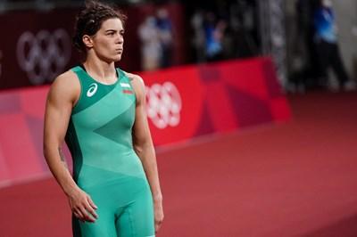 Тайбе Юсеин ще се бори за бронзов медал от олимпийските игри в Токио срещу рускинята Любов Овчарова. СНИМКА: ЛЮБОМИР АСЕНОВ, LAP.BG