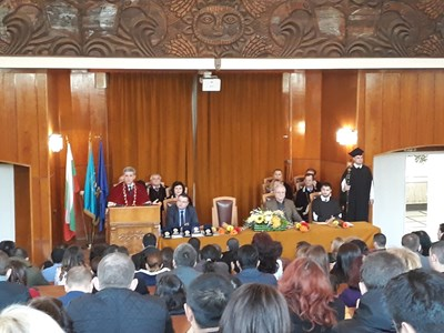 В Стопанската академия раздадоха парични награди, плакети и грамоти за студентския празник