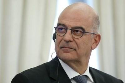 Гръцкият външен министър Никос Дендиас СНИМКА: Ройтерс