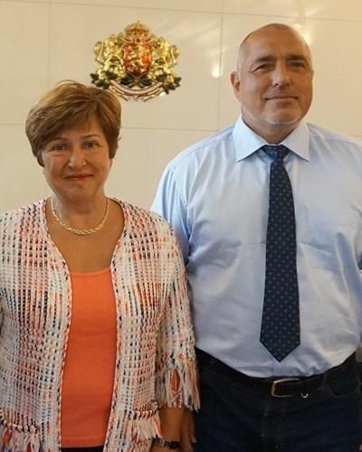 Кристалина Георгиева и Бойко Борисов СНИМКА: Фейсбук/Кристалина Георгиева