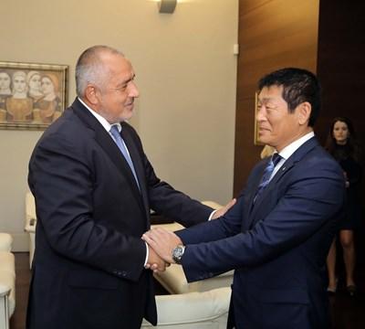 Бойко Борисов и Моринари Ватанабе Снимки: Министерски съвет