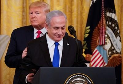 Нетаняху заяви днес, че в предложения от САЩ план се предвижда бъдещата палестинска столица да бъде разположена в ерусалимското предградие Абу Дис. Снимка РОЙТЕРС