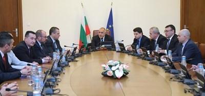 Борисов се срещна със синдикатите на МВР  СНИМКА: Правителствената пресслужба
