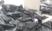 Смразяващи кадри: трупове на починали от коронавирус в чували в болница в Бергамо