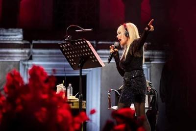 Лили Иванова по време на концерта си в Пловдив СНИМКА: Ина Янева