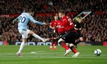 """""""Сити"""" удари """"Юнайтед"""" в битката за Манчестър с голов рекорд и пак е лидер (Видео)"""