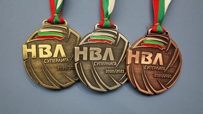 Медалите за призьорите в мъжката Суперлига по волейбол