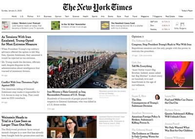 """За пълен достъп до сайта на """"Ню Йорк таймс"""" е нужен платен абонамент."""