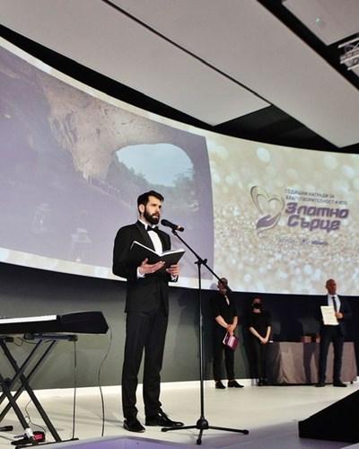 """Арх. Пламен Пламенов Мирянов получи благотворителната награда """"Златно сърце""""."""