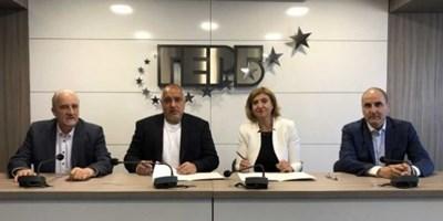Български демократически форум (БДФ) сключи политическо споразумение с ГЕРБ за подкрепа в предстоящите избори за европейски парламент. Снимка БДФ