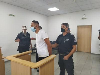 Ангел Рашков в пловдивския съд. Снимка: Авторът