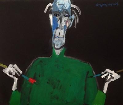 """""""Късно вдъхновение"""" - автопортрет от изложбата"""