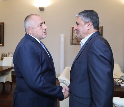 Премиерът Бойко Борисов се срещна с министъра на пътищата и градоустройството на Иран Мохаммад Еслами. СНИМКИ: Министерски съвет