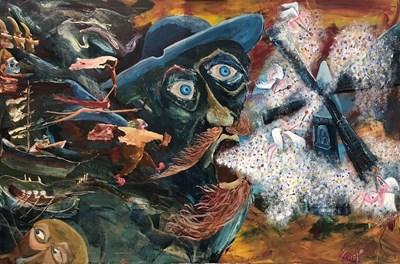 """Една от последните картини на Зуека, наречена """"Армия на любовта"""" СНИМКА: ЛИЧЕН ПРОФИЛ НА ЗУЕКА ВЪВ ФЕЙСБУК"""