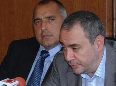"""Премиерът Борисов (вляво) и главният прокурор Борис Велчев обявиха, че има воля за борба с организираната престъпност. СНИМКА:""""24 ЧАСА"""""""