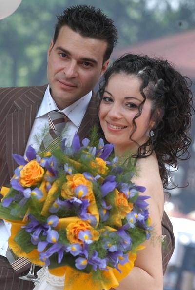 Слави Ангелов и Татяна Тасева в сватбения им ден СНИМКА: Личен архив