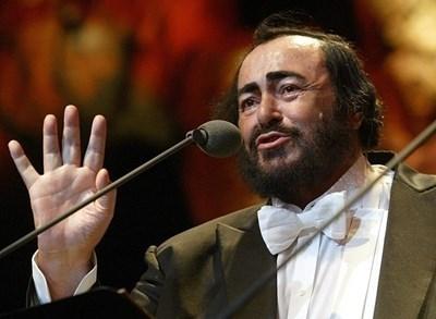 Оперният певец Лучано Павароти