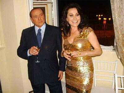 Берлускони на 49-ия рожден ден на  Дарина Павлова  в Рим СНИМКА: АВТОРЪТ