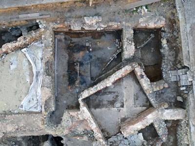 Проучванията на останките от Древна Сердика, снимани с дрон СНИМКА: Личен архив