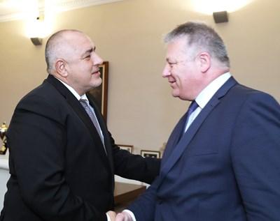 Бойко Борисов и Бруно Кал СНИМКА: Министерски съвет