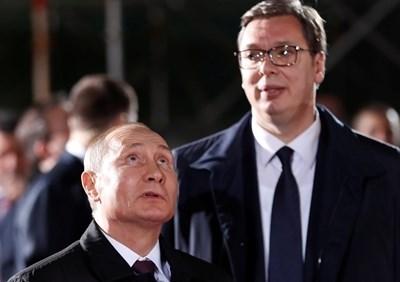 Владимир Путин и Александър Вучич СНИМКА: Ройтерс