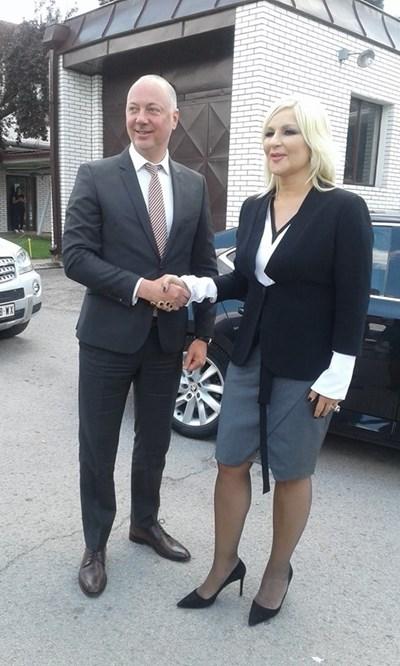 Росен Желязков и вицепремиерката на Сърбия Зорана Михайлович СНИМКА: Марияна Бойкова