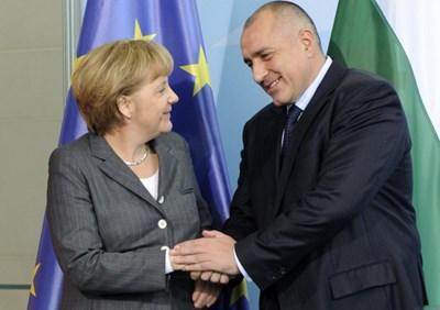 Борисов и Меркел по време на предишна среща