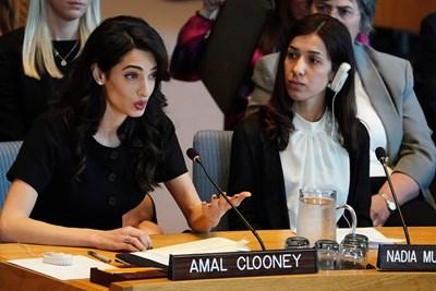 Амал Клуни и Надя Мурад Снимка: Ройтерс
