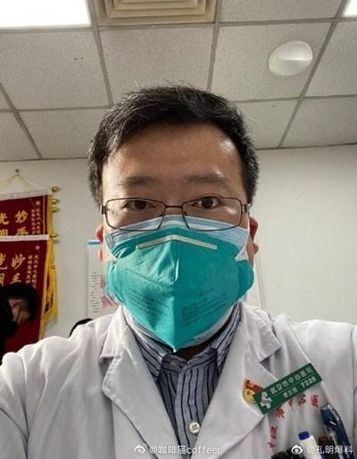 Д-р Ли Вънкян е един от първите, подал сигнал за новия коронавирус СНИМКА: Туитър/GlobalTimesBiz