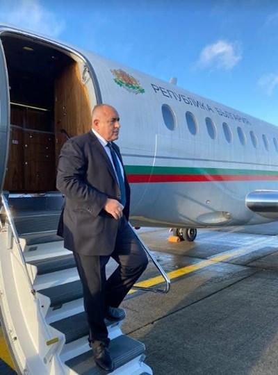 Бойко Борисов кацна в Брюксел. СНИМКА: Министерският съвет