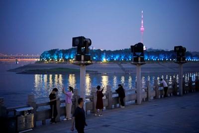 Кадър от Ухан, Китай Снимка: Ройтерс